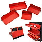 4pc Magnetic Toolbox Tray Set Tool Box Cabinet Side Shelf Storage Van Workshop by Unknown