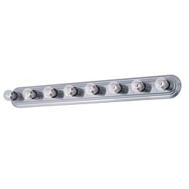 Portfolio 8 light brushed nickel bathroom vanity bathroom - 8 light bathroom fixture brushed nickel ...