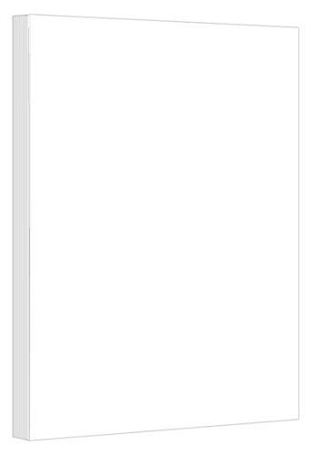 White 67lb. Vellum Bristol Cardstock, Size 8.5 x 14 Inches - Legal Size Cardstock (50 Sheets per pack) (Dividers Laser Printer Direct)