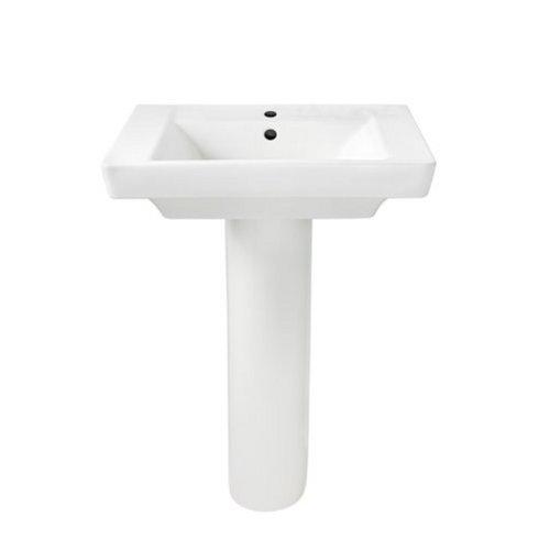 American Standard 0641.100.020 Boulevard Pedestal Lavatory Combo, (Corner Pedestal Lavatory)