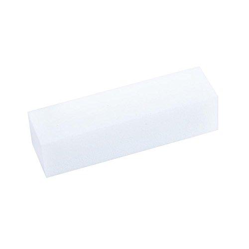 SupplyEU 10 Stück Schwamm Nagelpuffer Polierblock Schleifblock Nagelfeile Acryl Fingernägel Nail Art Weiß