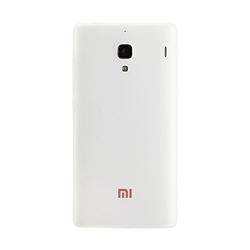Red Qube Back Replacement Cover for Xiaomi Redmi 1s  White
