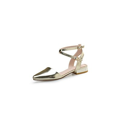 Botas de mujer verano PU Confort confort informal Plata Oro Negro plano Silver