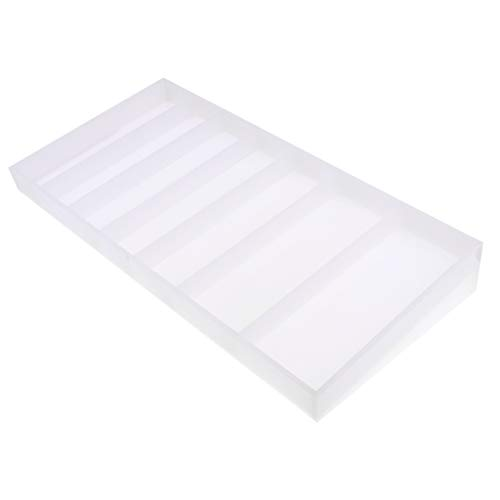MagiDeal Thickness Acrylic Multi-functional Poker Chips Tray Chips Tray Organizer 46x23x6.2cm by Unknown