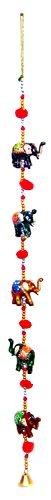 (Indian Traditional Five Elephant Hanging Layer , Door Hanging , Wall Hanging , Decorative Hanging)