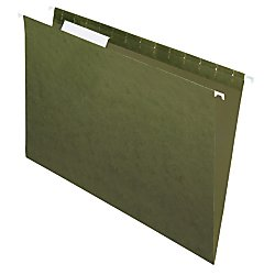 Office Depot(R) Brand Hanging Folders, 1/3 Cut, Legal Size, 100% Recycled, Green, Pack Of 25