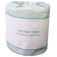 2-Ply Toilet Tissue, 430 Sheets per Roll, 96 Rolls per Case, Sheet Size: 4.5x3.0 inches