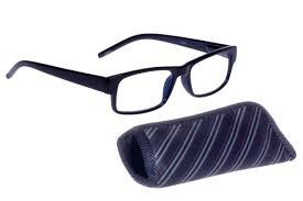 Foster Grant Sloan BLU Men's Reading Glasses with Case +3.25