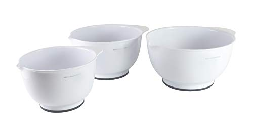 KitchenAid Classic Bowls, Mixing, White, Set of 3