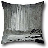 Cushion Cases Of Oil Painting Peder Balke - Northern Lights Over Coastal Landscape,for Bedroom,dining Room,kitchen,floor,wedding,bar 20 X 20 Inches / 50 By 50 Cm(each Side)