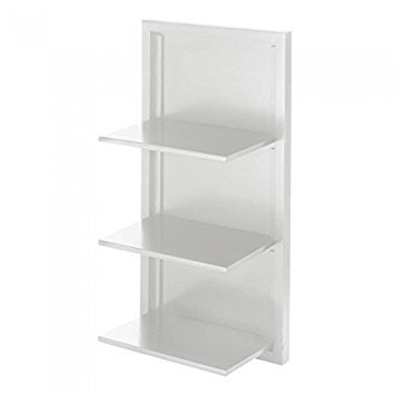 Koehler 10017989 29.5 Inch 3 Tier White Folding Wall Shelf