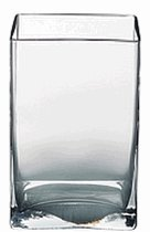 Candles4Less - 3 x 4 x 6 Inches Tall Clear Glass Rectangular Vase