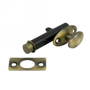 Deltana MB175U5 Screen Doors and Cabinet Doors Solid Brass Mortise Bolt for Light -