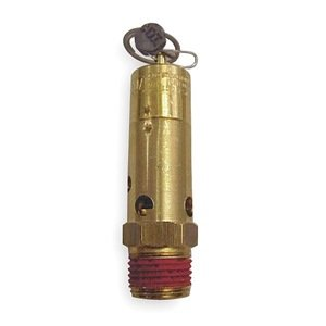 "Control Devices SF Series Brass ASME Safety Valve, 125 psi Set Pressure, 1/2"" Male NPT by Control Devices"