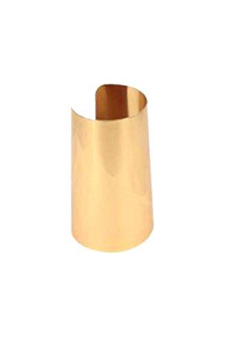 UPC 729798733142, Womens Stainless Steel Oversize Cuff Metal Bracelet KB7002 (Gold)