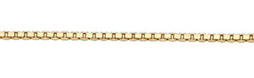 Venezia 4 pans collier en or blanc 333 avec chaîne 50 cm