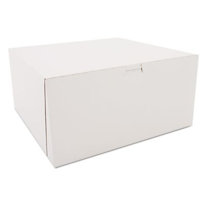 Southern Champion Tray 0989 Premium Clay-Coated Kraft Paperboard White Non-Window Lock Corner Bakery Box, 12