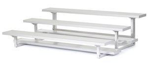 All Star Bleachers, Three Row Aluminum Bleachers, Bleacher3-21, Width (Ft): 21 Ft, Seats: 42, Weight: 503, 6A3S21