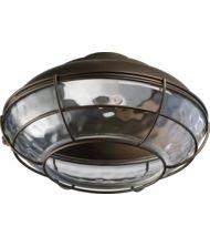 Quorum International 1375-CFL Hudson 1 Bulb Outdoor Fluorescent Fan Light Kit, Oiled Bronze by Quorum