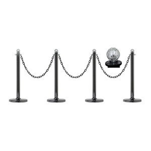 Mr. Chain 96539-4 Solar Light Stanchion Kit