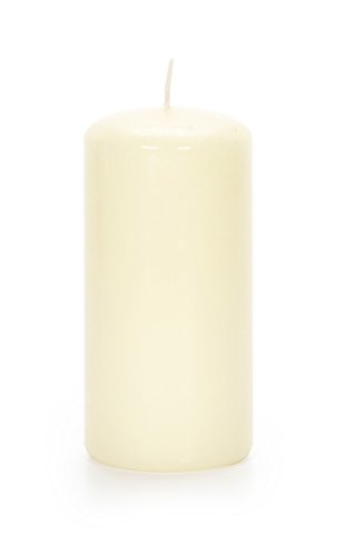 (Darice 1199-53 Pillar Candle SCNT VNLLA Ivory 3X6 in in,)