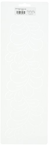 Quilting Creations Feather Scallop Border Stencil, 4