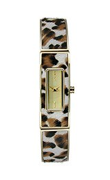 Dkny Womens Stainless Steel Bangle Watch (DKNY Astoria Faux Leopard Steel Bangle Women's watch #NY8883)
