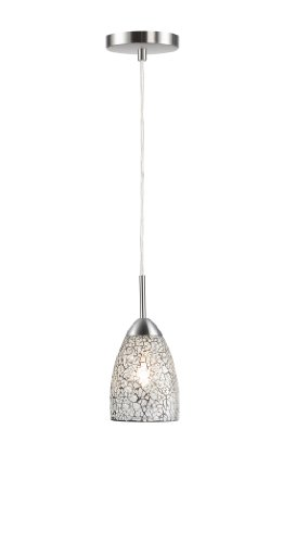 Woodbridge Lighting 13223STN-M20CLR Venezia 1-Light Mini Pendant, 3-1/2-Inch by 84-Inch Maximum, Satin Nickel