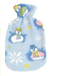 Warm Tradition Snowman Fleece Hot Water Bottle Cover - COVER ONLY- Made in USA