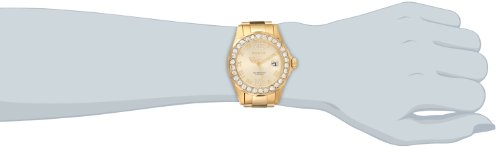 Invicta Women's 15252 Pro Diver Gold Dial Gold-Plated Stainless Steel Watch