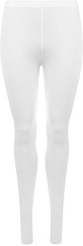 WearAll Plus Size Women's Full Length Leggings - White - US 20-22 (UK 24-26)