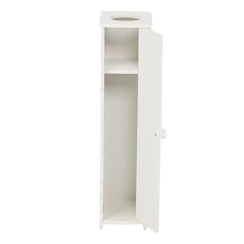 ZAILHWK Bathroom Storage Corner Floor Cabinet,Wooden Stand Cabinet Paper Towel Storage Organizer with Adjustable Shelf and Drawers