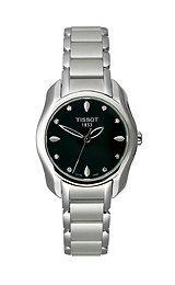 Tissot T-Wave Round Black Diamonds Quartz Trend Women's watch #T023.210.11.056.00