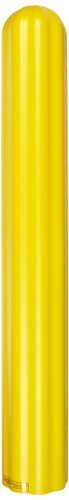 Eagle 1730 HDPE 6 Bumper/Bollard Post Sleeve, Yellow, 7.875 OD, 56 Height by Eagle