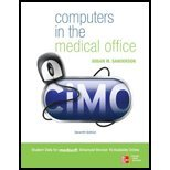 Computers in the Medical Office (7th, 11) by [Paperback (2010)] ebook