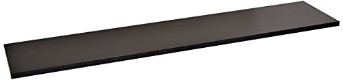 Rubbermaid 4B2500BLA Laminated Wood Closet Shelf, 10-Inch by 3-Feet, Black