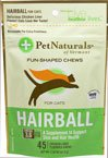 Pet Naturals of Vermont Hairball Prevention for Cats Chicken Liver - 45 Soft Chews Pack of - 4