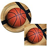 Sports Fanatic Basketball Bundle 9' Plates (16) Lunch Napkins (18)