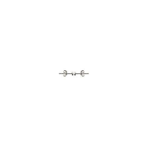 MARY JANE - Boucles d'oreilles Argent Femme/Homme/Fille/Garçon - Diam:2mm - Argent 925/000 rhodié-Zirconium (Rond)
