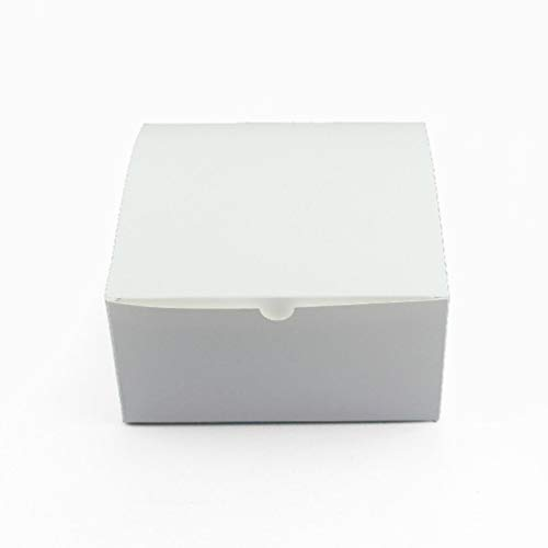 Chocolate Wedding Party Favors - Ick Home 10pc 50pc White Kraft Square Paper Boxes Wedding Party Favor Candy Gift Box