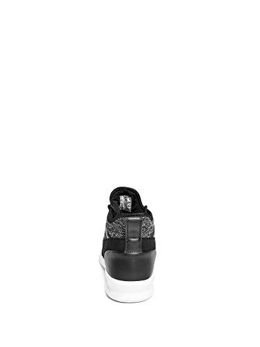 Denk Fabriek Mens Contour Brei High-top Sneakers Zwarte Multi-stof