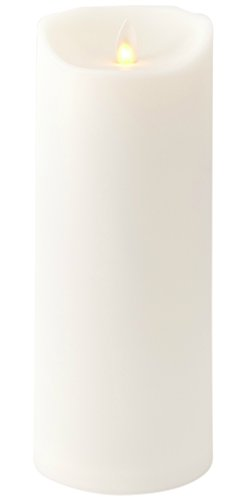 Liown Outdoor Flameless Candle:  Plastic Finish, Unscented Moving Flame Candle with Timer (9'' Ivory) by Liown