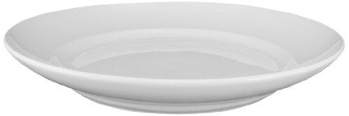 ITI BL-209 Bristol Porcelain 9-Inch Fine Porcelain Serving Plate, Bright White, 12-Piece