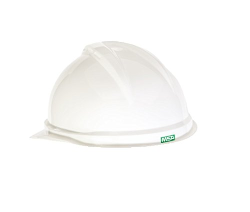 MSA Safety 10034018 V-Gard 500 Vented Style Protective Cap with Fas Trac 4 Point Ratchet Suspension, White from MSA