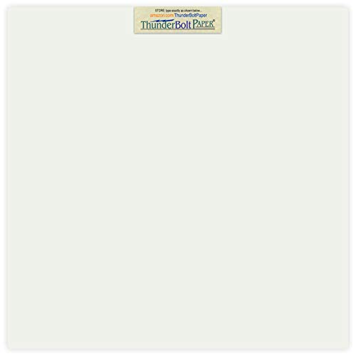 (50 Soft Off-White Translucent 17# Thin Sheets - 12 X 12 Inches Scrapbook Album|Cover Size - 17 lb/pound Light Weight Fine Quality Paper - Tracing, Fun or Formal Use - Not a Clear Transparent)
