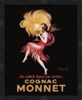 Cognac Monnet Framed Vintage Wine Poster Print
