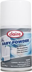 Claire C-119 7 Oz. Baby Powder Metered Air Freshener Aero...