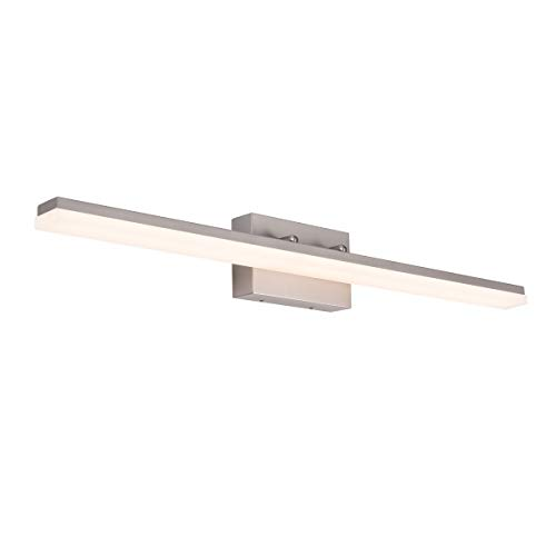 mirrea 36in Modern LED Vanity Light for Bathroom Lighting Dimmable 36w Brushed Nickel (Warm White 3000K)