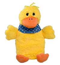 Hugo Frosch, 0.8 L Kids Eco Hot Water Bottle, with Animal Cover, Cuddly Duck - Made in Germany by Hugo Frosch
