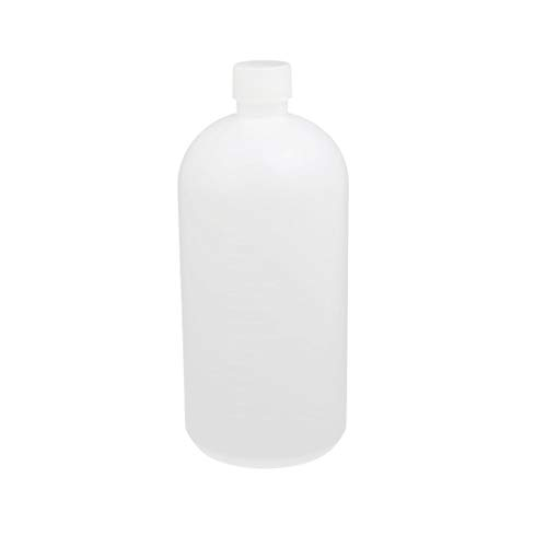 (uxcell 1L HDPE Plastic Clear White Narrow Mouth Liquid Chemical Reagent Sample Bottle Container Jar)